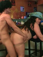 Fat girl fucked as he looks at her ass_30