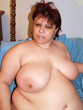 Fat babe Marta working a long meaty cock with her knockers and takes nasty cum hosing live_30